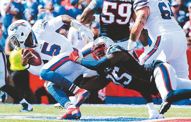 The Patriots had a handle on containing Tyrod Taylor last season. (Harry Scull Jr./Buffalo News)