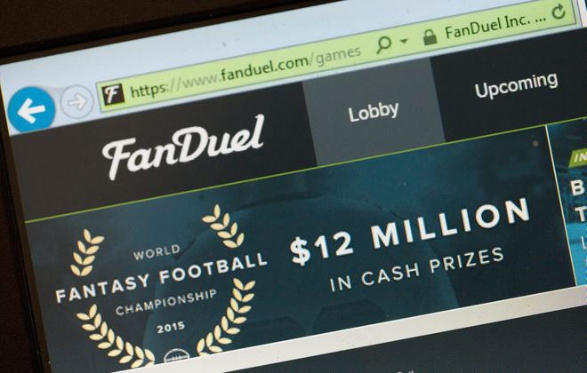 The fantasy sports website FanDuel. (Photo illustration by Getty Images)