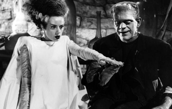"""Elsa Lanchester and Boris Karlott star in the 1935 classic """"Bride of Frankenstein."""""""