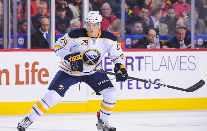 Jake McCabe and the Sabres have heard the boos in Buffalo. (Getty Images)