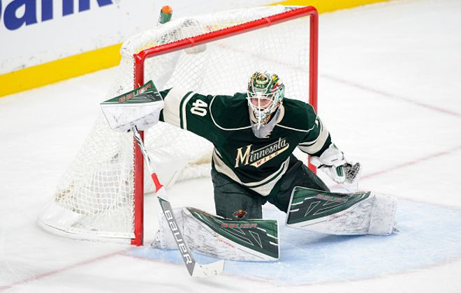 Devan Dubnyk has collected three straight shutouts for the Wild (Getty Images).