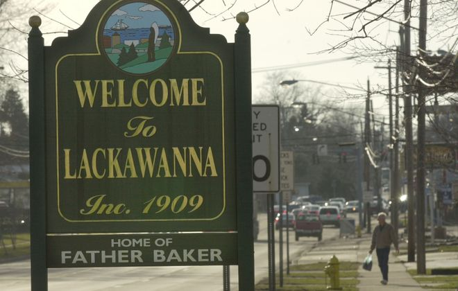 An overview of Lackawanna looking west on Ridge Road. (Derek Gee/Buffalo News)