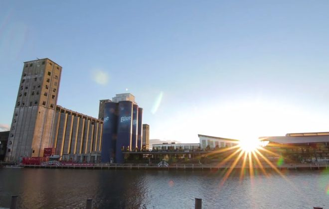 A still from Luke Haag's hyperlapse video of Buffalo.