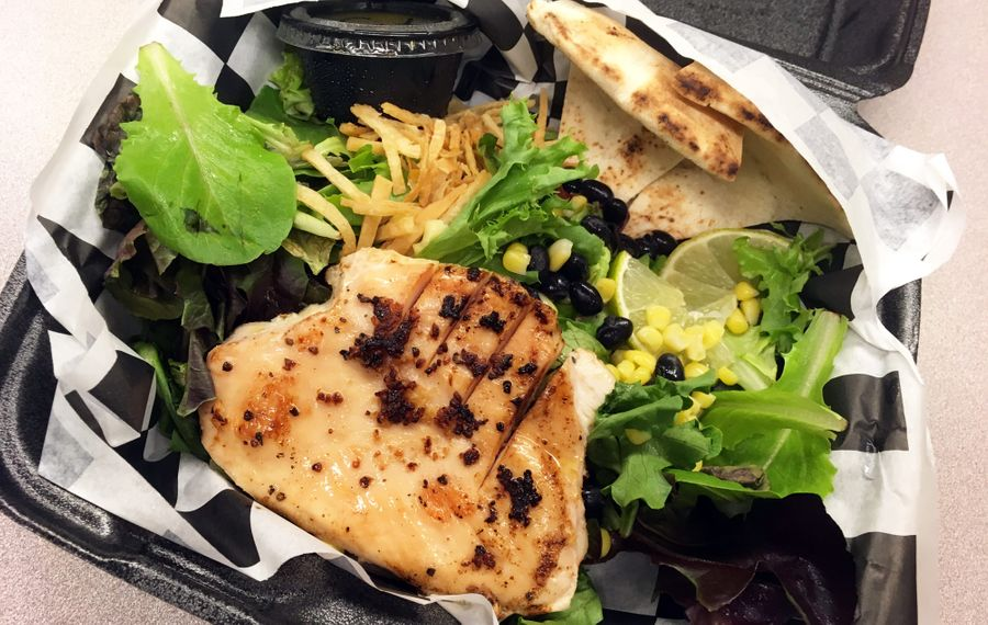 The Chocolate Bar's Southwest Chicken Salad was delivered as ordered via Skip the Dishes, a food delivery service from local restaurants. (Emeri Krawczyk/Special to The News)