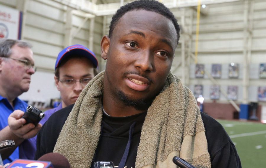 Bills running back LeSean McCoy took exception to the president's remarks urging NFL owners to fire players who protest during the national anthem. (News file photo)