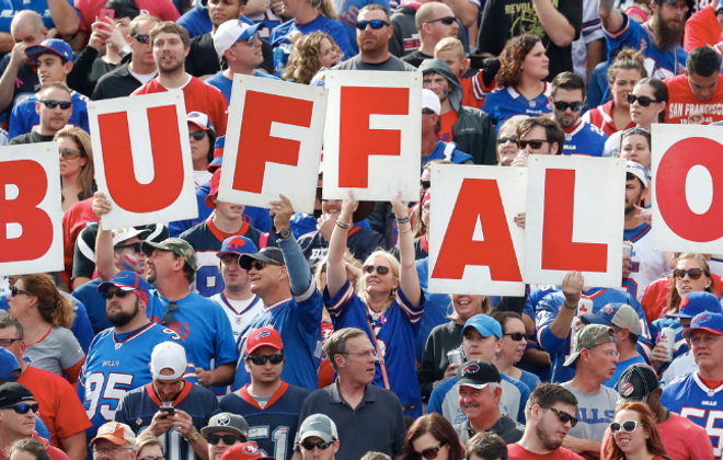 Bills fans cheer on their team. (Harry Scull Jr./News file photo)