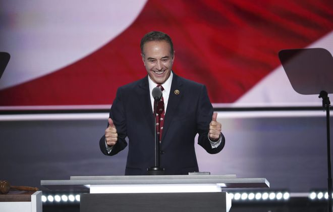 Rep. Chris Collins of Clarence, shown here at the Republican National Convention in Cleveland, in 2016.