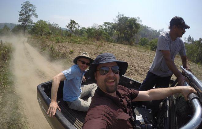 Reporter Jerry Zremski and photographer Derek Gee on their first ride into Burma.  (Derek Gee/Buffalo News)