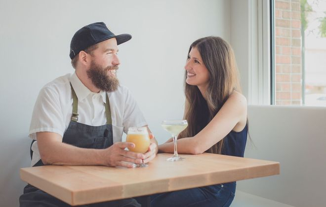 Brad and Caryn Rowell, owners of The Grange Community Kitchen in Hamburg, built their restaurant cafe around local meat and produce. (Photos by Lindsay DeDario)