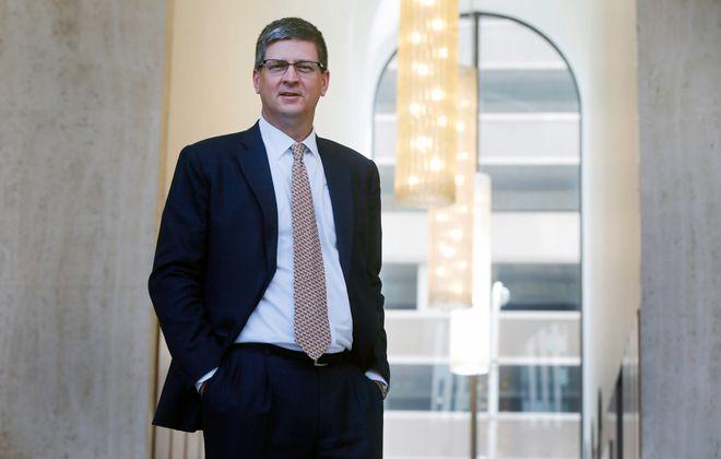 M&T Bank CFO Darren King at the company's headquarters in Buffalo.     (Mark Mulville/Buffalo News)