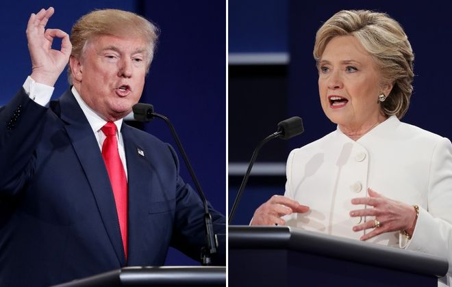 Republican presidential nominee Donald Trump faced off against Democratic presidential nominee Hillary Clinton in the third U.S. presidential debate in Las Vegas. (Getty Images)