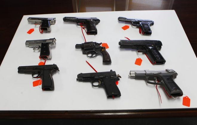 A new report concludes guns are flowing into New York from states with weaker gun laws. (John Hickey/News file photo)