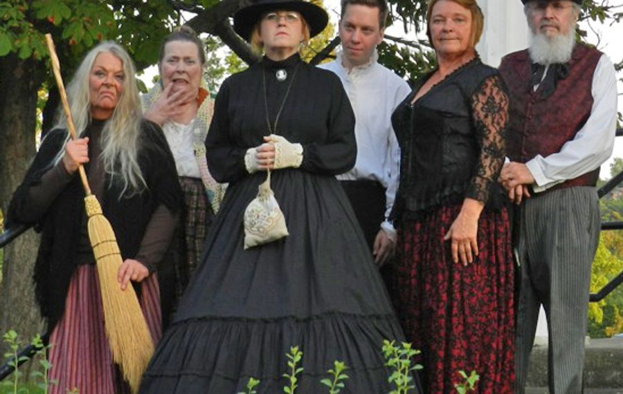 The cast of the Marble Orchard Ghost Walks includes Hazel the Witch.