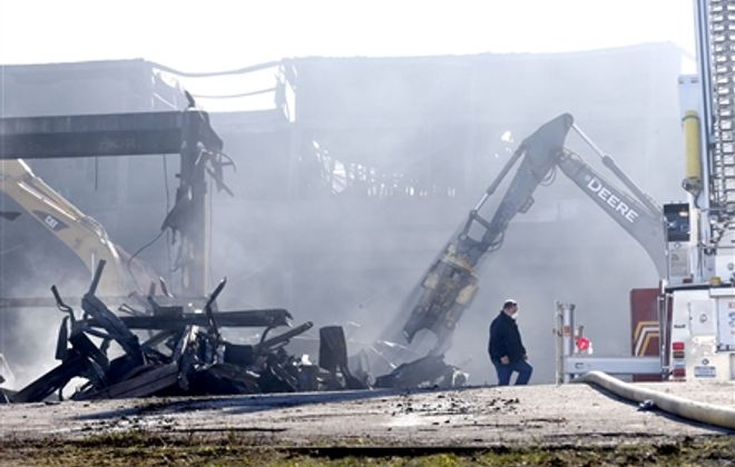 "Cleanup at the Bethlehem Steel site where a massive inferno raged for days last week could take ""months"" to complete."