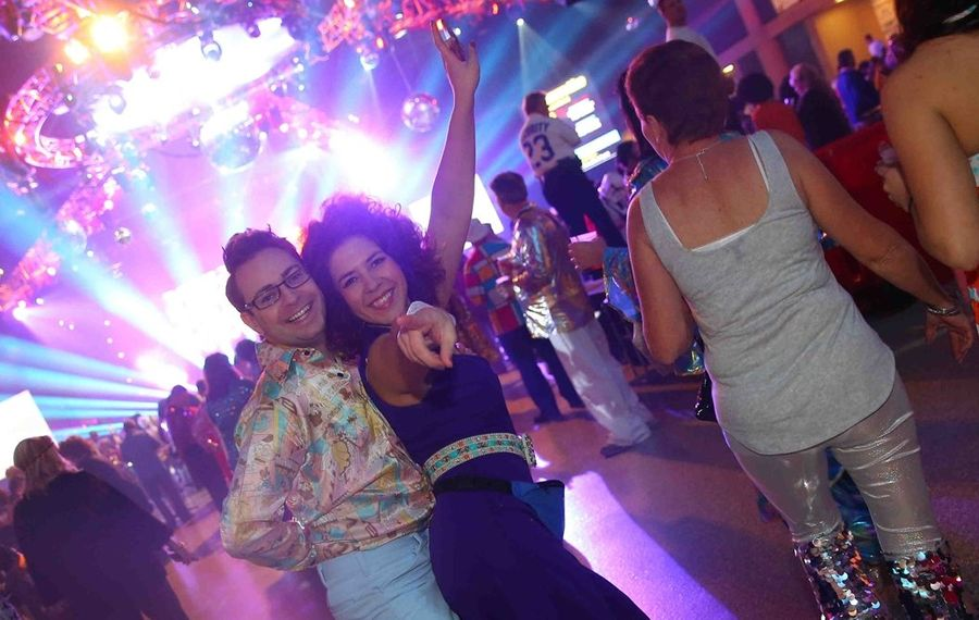 Dancers on the VIP floor at last year's World's Largest Disco. (John Hickey/Buffalo News)
