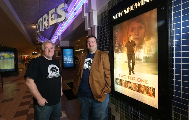 """Greg Lamberson, left, and Chris Scioli are founders and co-directors of the Buffalo Dreams Fantastic Film Festival. The event includes a special advance screening of the film """"Two For One"""" which was shot in Buffalo. (Sharon Cantillon/Buffalo News)"""