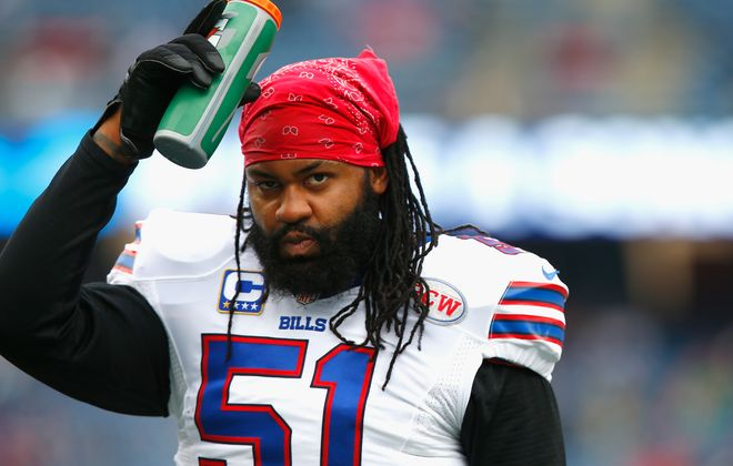 Buffalo Bills linebacker Brandon Spikes is among the team's inactives against the Bengals. (Getty Images)