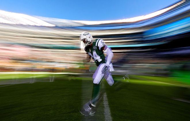 Jets cornerback Darrelle Revis has already publicly discussed a move to safety in his future. Could it come with the Bills? (Getty Images)