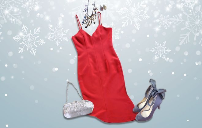 What to wear: Glam holiday party outfit