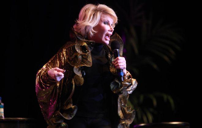 Comedian Joan Rivers at the Seneca Niagara Event Center in Niagara Falls in 2010. (Sharon Cantillon / Buffalo News }