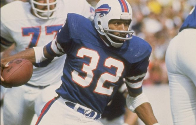 O.J. Simpson played nine of his 11 NFL seasons for the Bills. (Getty Images)