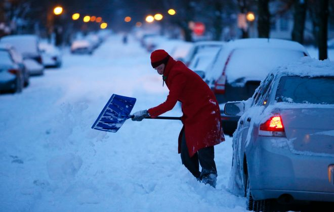 Scenes like this one are a reminder of why we have winter parking bans. (Derek Gee/Buffalo News file photo)