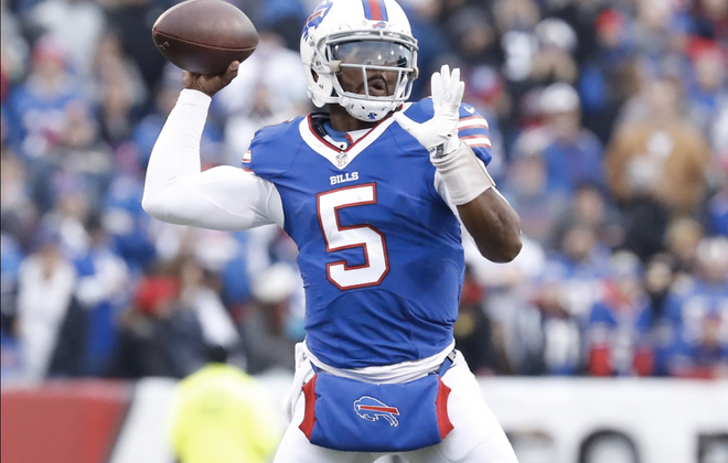 Tyrod Taylor's accuracy has placed him in select company among Bills quarterbacks. (Harry Scull Jr./Buffalo News)