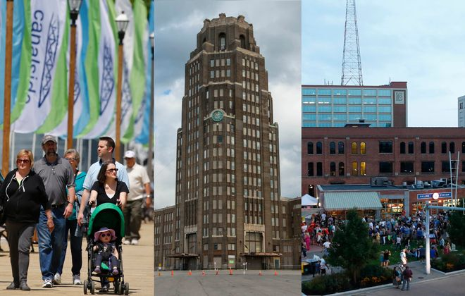 Where could Buffalo's new train station go: Canalside, the Central Terminal or Larkinville? (News file photos)