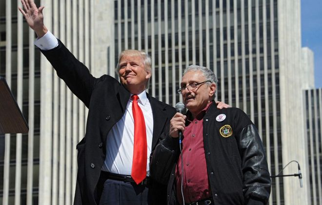 Carl Paladino, right, served as a co-chairman in President-elect Donald J. Trump's New York State election campaign and has been an ardent Trump supporter. (Lori Van Buren/Times Union)