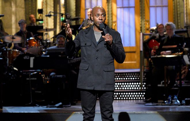"""Host Dave Chappelle during his """"Saturday Night Live"""" monologue on Nov. 12. (Will Heath, NBC)"""