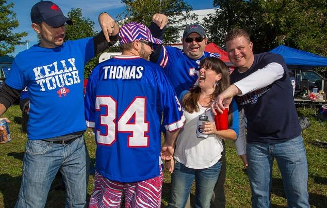 Zubaz – the red, white and blue zebra-print pants beloved by Bills fans – has opened its first and only brick-and-mortar store in Niagara Falls. (Don Nieman/Special to the News)