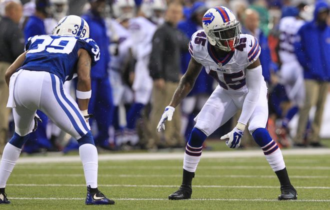 The Bills front office reduced their roster to 53 and traded cornerback Kevon Seymour to the Carolina Panthers in exchange for wide receiver Kaelin Clay and a 2019 seventh-round draft pick. (Harry Scull Jr./Buffalo News)