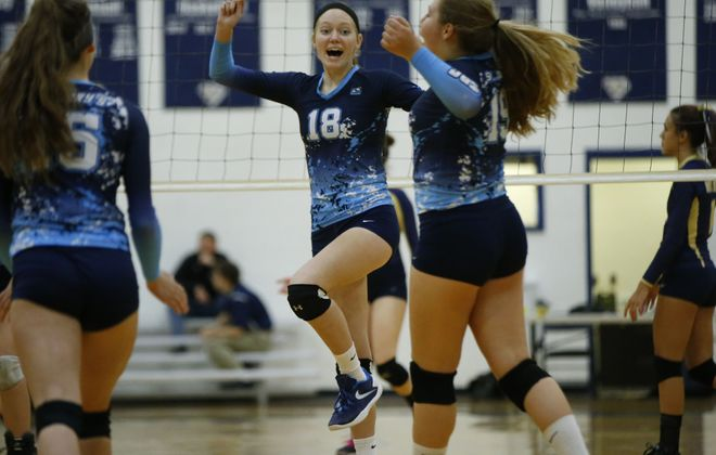 Kelsie Allen and St. Mary's rose to the top of final Power 10 for the fall season. (Harry Scull Jr./Buffalo News)