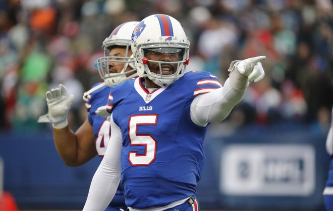 The Buffalo Bills will reportedly bench quarterback Tyrod Taylor for the season finale. (Harry Scull Jr./Buffalo News)