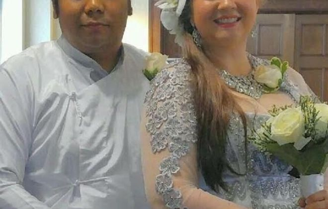 Soe Maung Maung and Kelly M. Cooper married in July