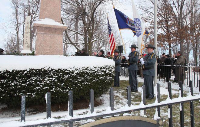 Millard Fillmore's gravesite at Forest Lawn in Buffalo. (Robert Kirkham/News file photo)