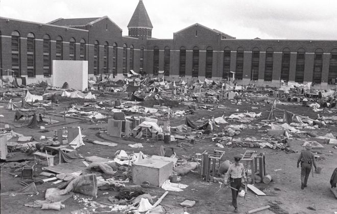 Aftermath of riots at Attica State Prison, September 1971. (Buffalo News file photo)