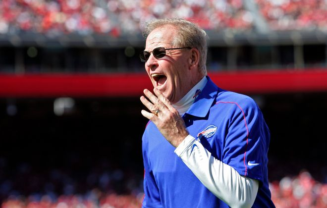 Former Buffalo Bills special teams coach Bruce DeHaven died of cancer Tuesday at age 68. (Getty Images)