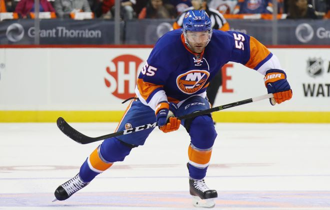 Johnny Boychuk won't be fined or suspended for his hit on Jack Eichel.  (Getty Images)