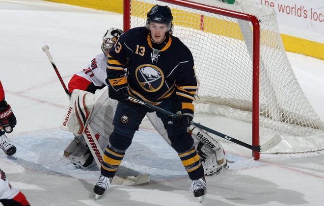 Tim Kennedy played 78 games with the Sabres in 2009-10, recording 10 goals and 26 points. (Getty Images)