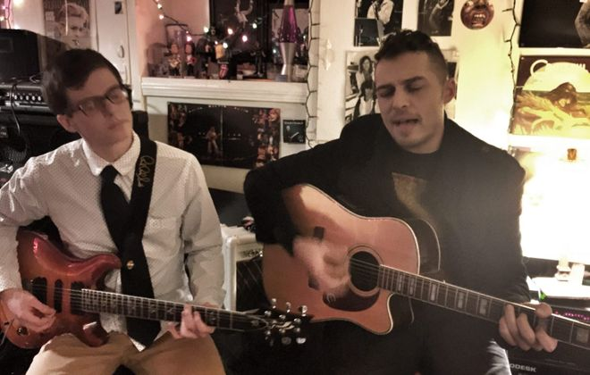 Hayden Fogle, left, and Vin DeRosa will perform at the International Blues Challenge after winning a local competition.