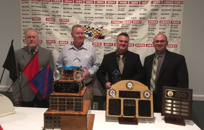 The FOAR Score 2016 Hall of Fame class (left to right): Ron Richter, Mike Logsdon, Todd Burley, Neil Hopkins.