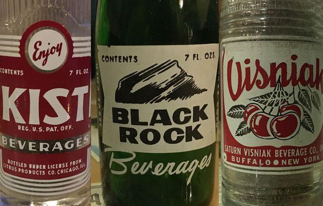 Kist was bottled by Goddard/Kist in Buffalo. Black Rock Pop was bottled by Black Rock Beverages on Hertel Avenue. Visniak was bottled by Saturn-Visniak Bottling on Fillmore Avenue.