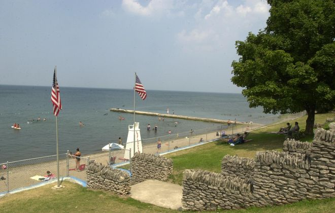 Water level variability at places like Olcott's public beach will increase under the new plan agreed to Thursday by the International Joint Commission. (Buffalo News file photo)
