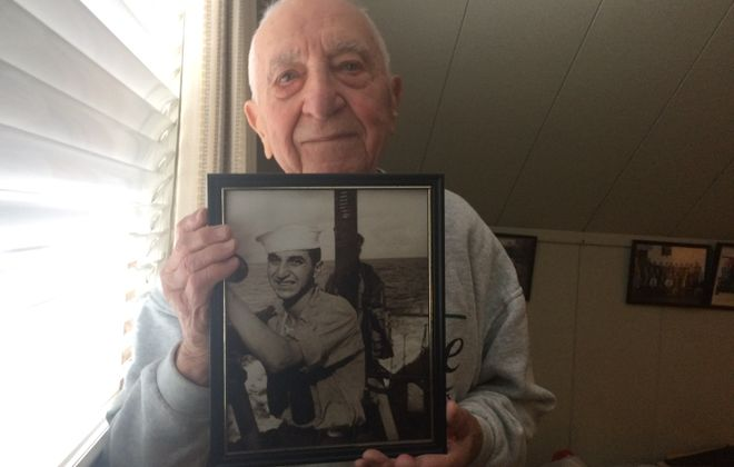 Ed Stone enlisted in the U.S. Navy in Buffalo - then found himself, at 18, witnessing the Japanese attack on Peal Harbor. (Sean Kirst/submitted image)