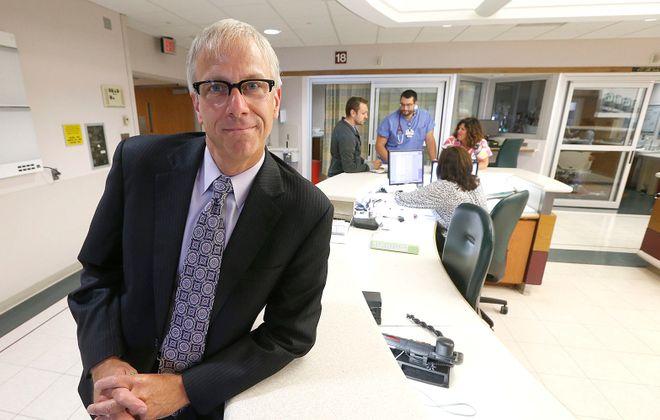 Richard Cleland, former CEO of Erie County Medical Center, has taken a job at Ira Davenport Memorial Hospital.  (Robert Kirkham/Buffalo News)