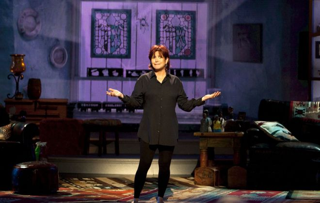 """Carrie Fisher in """"Wishful Drinking."""" (News file photo)"""