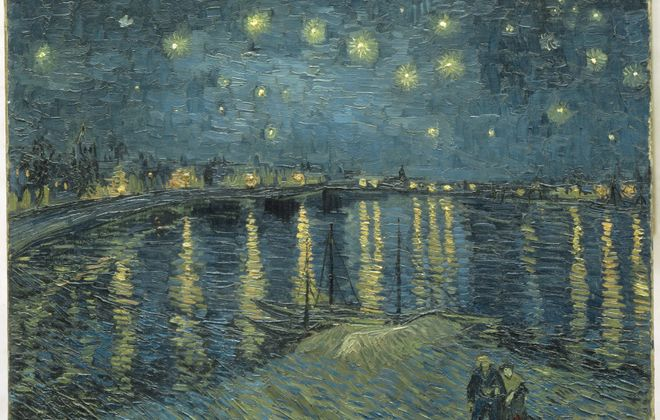 """""""Starry Night Over the Rhone at Arles"""" by Van Gogh is one of the pieces on display at the Art Gallery of Ontario in Toronto (Image courtesy of Art Gallery of Ontario)"""