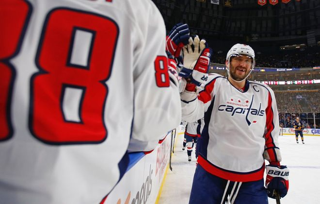 The Washington Captials won all three meetings with the Sabres, including a 4-1 win Friday. (Harry Scull Jr./Buffalo News)