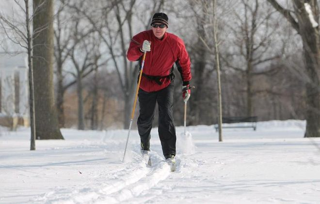 Nordic Ski Club President James Klein teaches free cross-country skiing lessons when the snow flies. (Buffalo News file photo)